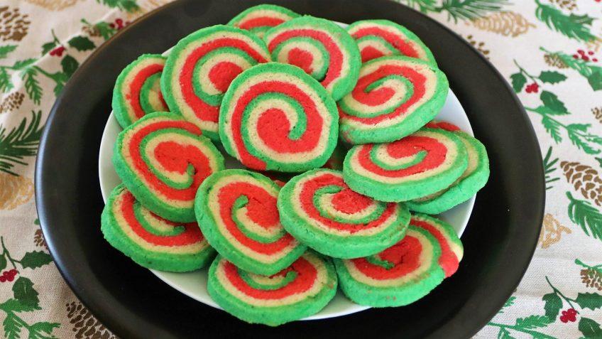 Keto Christmas Pinwheel Cookies