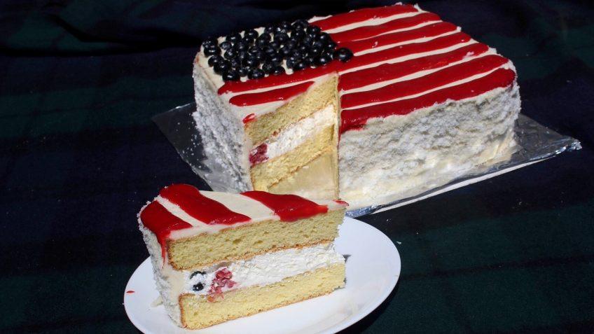 Fourth Of July Vanilla Sponge Cake